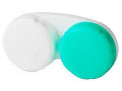 Zöld-fehér kontaktlencse tartó