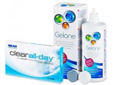 Clear All-Day (6db lencse) +360ml Geloneápolószer