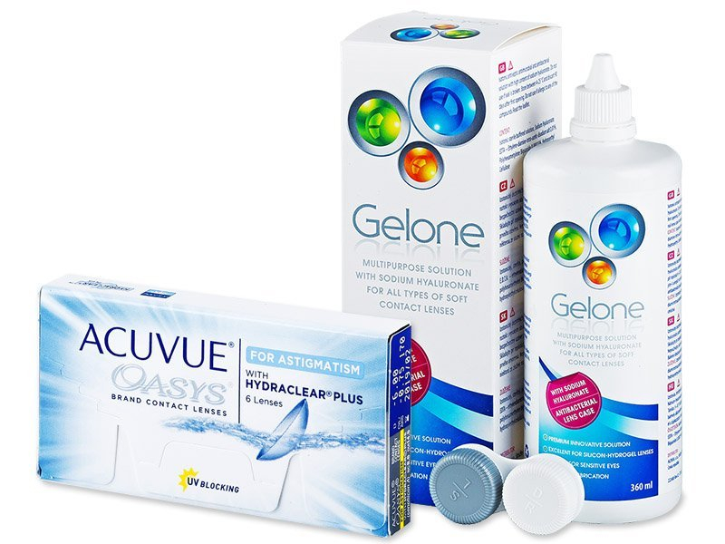 Acuvue Oasys for Astigmatism (6db lencse) + 360 mlGeloneápolószer