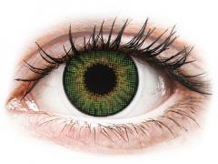 Zöld Air Optix Colors kontaktlencse - dioptriával (2db lencse)