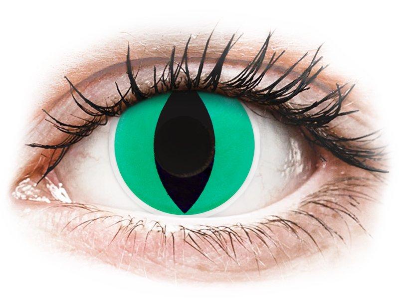 Zöld Anaconda ColourVUE Crazy Lens kontaktlencse - dioptria nélkül (2 db lencse)