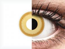 Sárga Avatar ColourVUE Crazy Lens kontaktlencse - dioptria nélkül (2 db lencse)