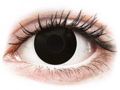 Fekete Blackout ColourVUE Crazy Lens kontaktlencse - dioptria nélkül (2 db lencse)
