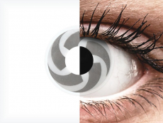 Fehér és szürke Blade ColourVUE Crazy Lens lencse - dioptria nélkül (2 db lencse)