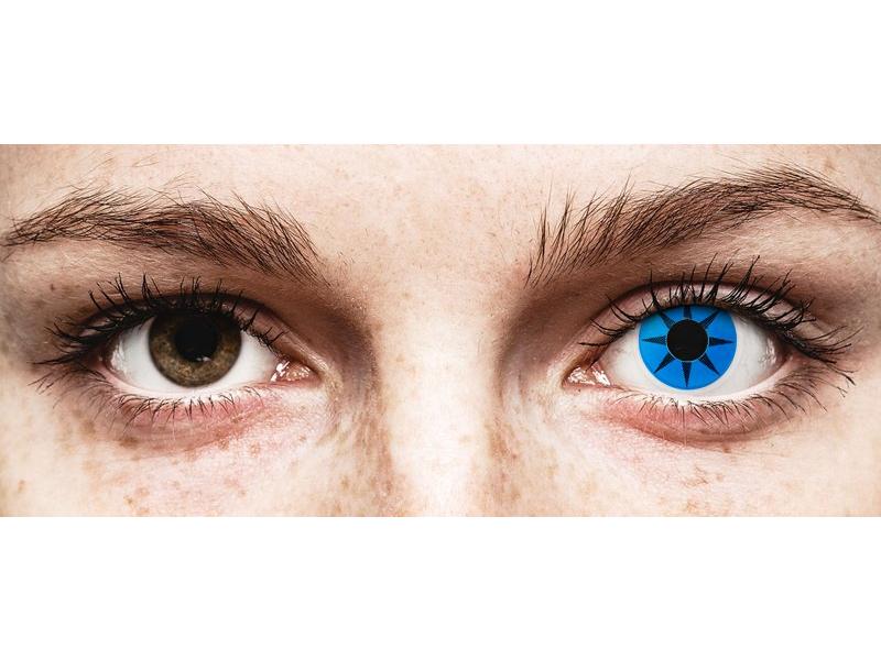 Kék csillag ColourVUE Crazy Lens kontaktlencse - dioptria nélkül (2 db lencse)