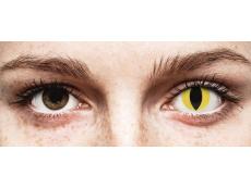 Sárga Cat Eye ColourVUE Crazy Lens kontaktlencse - dioptria nélkül (2 db lencse)