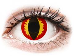 Piros/sárga Dragon Eyes ColourVUE Crazy Lens lencse - dioptria nélkül (2 db lencse)