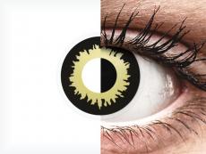 Sárga Eclipse ColourVUE Crazy Lens kontaktlencse - dioptria nélkül (2 db lencse)