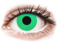 Smaragdzöld Emerald Green ColourVUE Crazy Lens kontaktlencse - dioptria nélkül (2 db lencse)