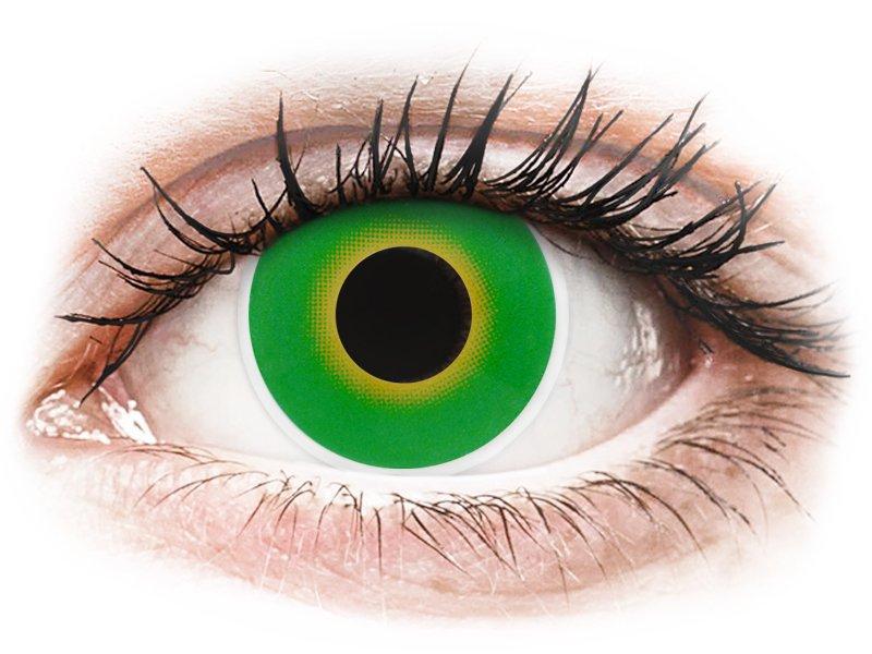 Zöld Hulk ColourVUE Crazy Lens kontaktlencse - dioptria nélkül (2 db lencse)