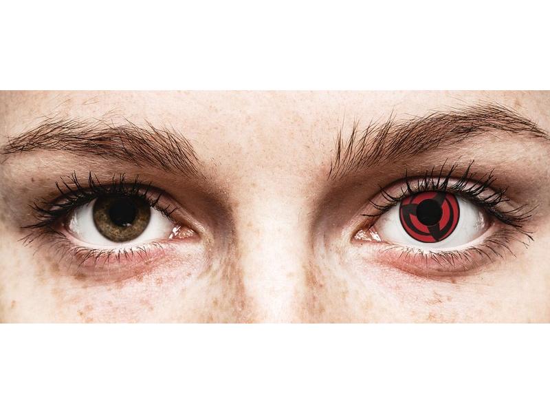 Piros Kakashi ColourVUE Crazy Lens kontaktlencse - dioptria nélkül (2 db lencse)
