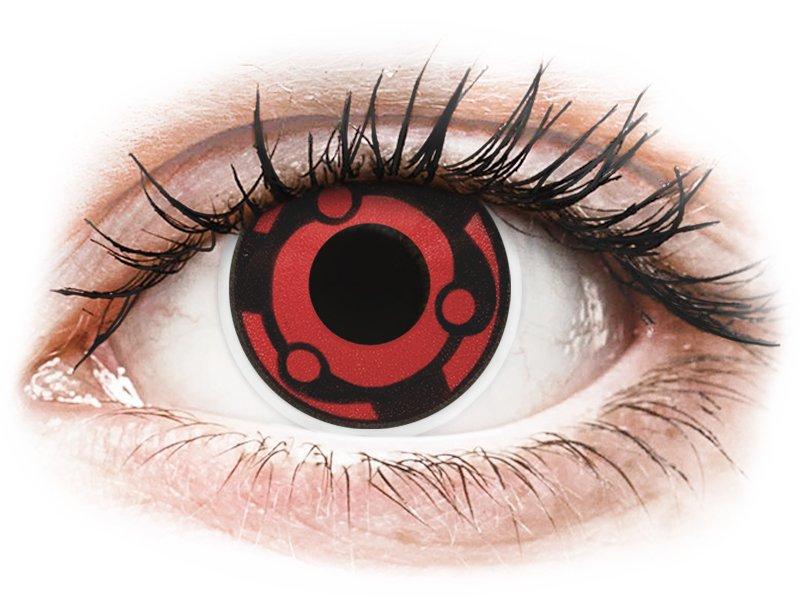 Piros Madara ColourVUE Crazy Lens kontaktlencse - dioptria nélkül (2 db lencse)