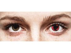Piros Mangekyu ColourVUE Crazy Lens kontaktlencse - dioptria nélkül (2 db lencse)