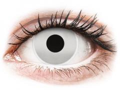 Fehér Mirror ColourVUE Crazy Lens kontaktlencse - dioptria nélkül (2 db lencse)