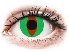 Zöld Raptor ColourVUE Crazy Lens kontaktlencse - dioptria nélkül (2 db lencse)