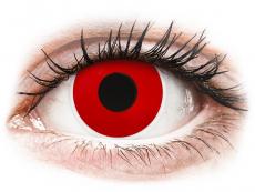 Piros Red Devil ColourVUE Crazy Lens kontaktlencse - dioptria nélkül (2 db lencse)