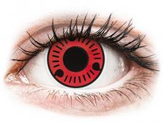 Piros Sasuke ColourVUE Crazy Lens kontaktlencse - dioptria nélkül (2 db lencse)