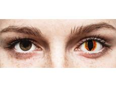 Narancssárga Saurons Eye ColourVUE Crazy Lens lencse - dioptria nélkül (2 db lencse)