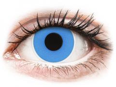 Kék Sky Blue ColourVUE Crazy Lens kontaktlencse - dioptria nélkül (2 db lencse)