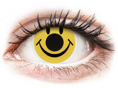 Sárga Smiley ColourVUE Crazy Lens kontaktlencse - dioptria nélkül (2 db lencse)