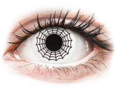 Fekete-fehér Spider ColourVUE Crazy Lens kontaktlencse - dioptria nélkül (2 db lencse)