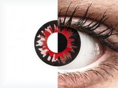 Piros Volturi ColourVUE Crazy Lens kontaktlencse - dioptria nélkül (2 db lencse)