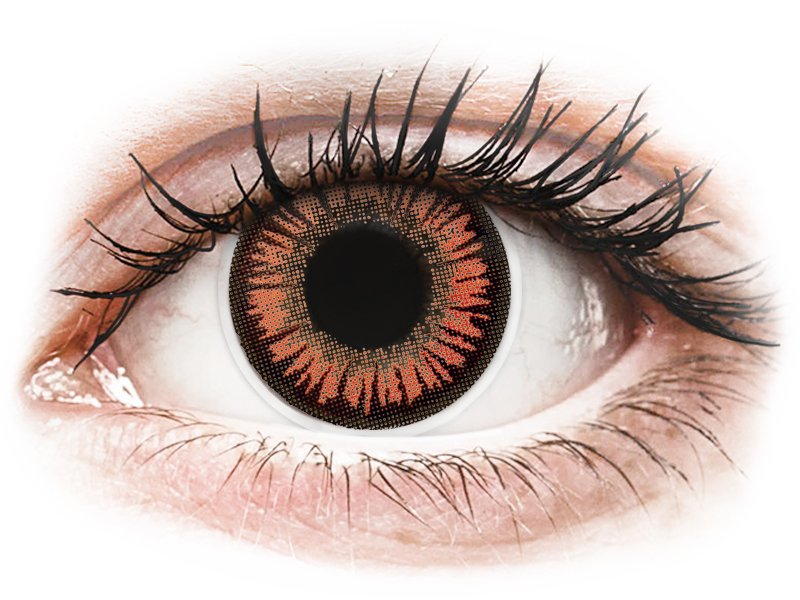 Piros/narancssárga Vampire ColourVUE Crazy Lens lencse - dioptria nélkül (2 db lencse)