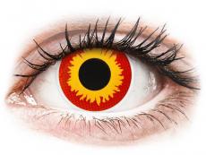 Piros/sárga Wildfire ColourVUE Crazy Lens kontaktlencse - dioptria nélkül (2 db lencse)
