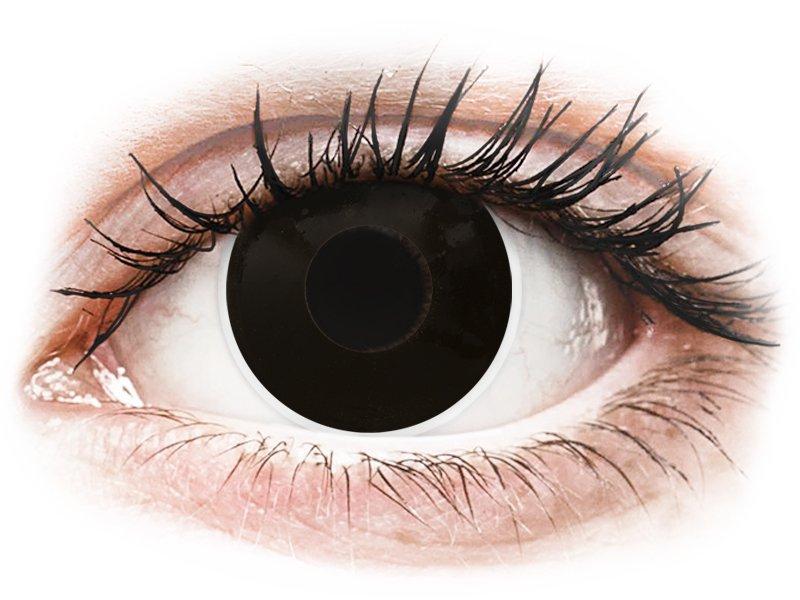 Fekete Blackout ColourVUE Crazy Lens lencse - dioptriás (2 db lencse)
