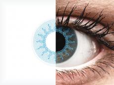 Kék Solar Blue ColourVUE Crazy Lens kontaktlencse - dioptriás (2 db lencse)
