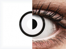 Fehér White Zombie ColourVUE Crazy Lens kontaktlencse - dioptriával (2 db lencse)