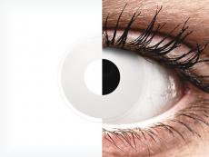Fehér WhiteOut ColourVUE Crazy Lens lencse - dioptriás (2 db lencse)