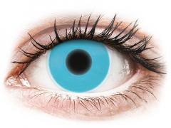 Kék ColourVUE Crazy Glow kontaktlencse - dioptria nélkül (2 dblencse)