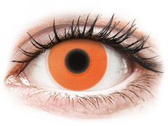 Narancssárga ColourVUE Crazy Glow - dioptria nélkül (2db lencse)