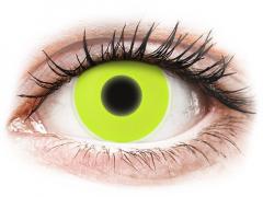 Sárga ColourVUE Crazy Glow kontaktlencse - dioptria nélkül (2db lencse)