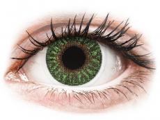 Zöld TopVue Color kontaktlencse - dioptria nélkül (2 db lencse)