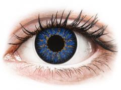 Kék ColourVUE Glamour kontaktlencse - dioptriával (2db lencse)