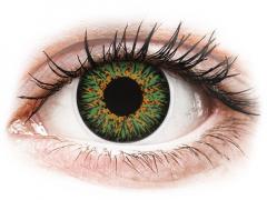 Zöld ColourVUE Glamour kontaktlencse - dioptriával (2db lencse)
