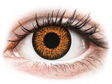 Mézszínű ColourVUE Glamour kontaktlencse - dioptriával (2db lencse)