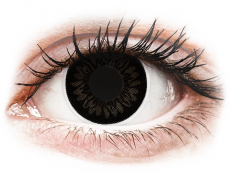 Fekete Dolly ColourVUE BigEyes kontaktlencse - dioptriás (2db lencse)