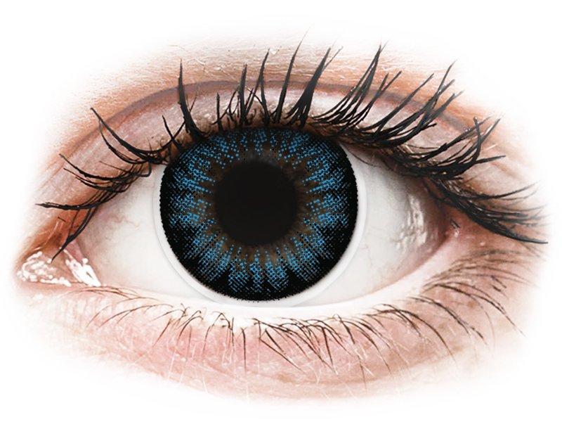 Színes kontaktlencsék kék látáshoz
