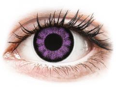 Lila Ultra Violet ColourVUE BigEyes kontaktlencse - dioptria nélkül (2 dblencse)