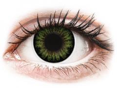 Zöld Party Green ColourVUE BigEyes kontaktlencse - dioptria nélkül (2db lencse)