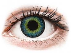 Sárga/kék ColourVUE Fusion kontaktlencse - dioptriával (2 dblencse)