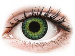 Zöld/sárga ColourVUE Fusion kontaktlencse - dioptriával (2db lencse)
