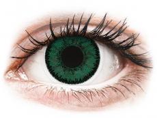 Zöld Amazon SofLens Natural Colors kontaktlencse - dioptria nélkül (2 db lencse)