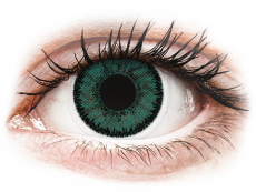 Zöld Jadekő SofLens Natural Colors kontaktlencse - dioptria nélkül (2 db lencse)
