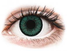 Zöld Jadekő SofLens Natural Colors lencse - dioptriás (2 db lencse)