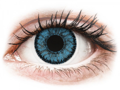 Kék Pacific SofLens Natural Colors kontaktlencse - dioptria nélkül (2 db lencse)