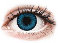 Kék topáz SofLens Natural Colors kontaktlencse - dioptria nélkül (2 db lencse)